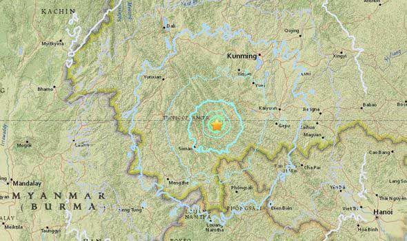 普洱5.9级地震图片